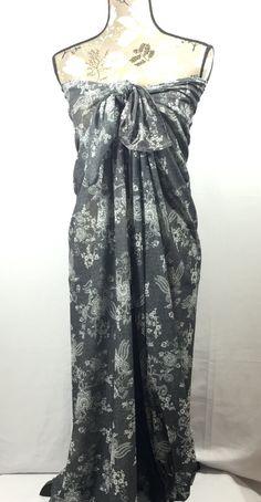 cae5e89548 Charcoal Swim Suit Cover, Scarf, Swimwear Wrap Pareo, Sarong, Beach Cover up,  Swim Cover, Swim Wrap, Gray Scarf,Long Scarf, Boho scarf