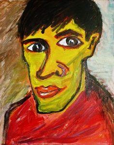 "Danny Rios-Farrell, ""Pavel Datsyuk,"" Acrylic on Canvas, 20 x 16 in."