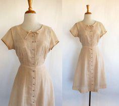 Softer Still dress  vintage 1950s semi sheer cotton by DustyDesert
