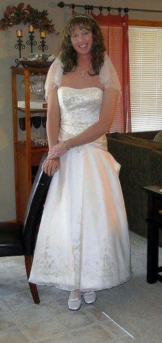 A male enjoyong being a bride...