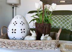 Spring in the Living Room & Welcome Spring Giveaway! - Hymns and Verses