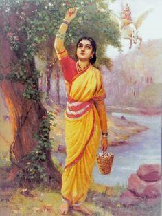 Reprints of Raja Ravi Varma Paintings: Ahalya