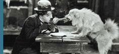 "Chaplin - p.) ""The Gold Rush"" Charlie Chaplin, Cinema Movies, Film Movie, Ruée Vers L'or, Charles Spencer Chaplin, Man And Dog, Dean Martin, Aragon, Gold Rush"