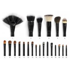 I hear great things about things about these-- if you wonder what brushes I use to create my makeup looks, these are it.., I think they cost $35.00 for the set