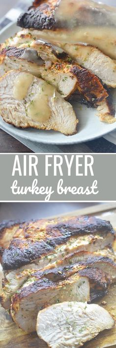 Air Fryer Turkey Breast for Thanksgiving! - Recipe Fryer Turkey Breast for Thanksgiving! Air Fryer Turkey Recipes, Air Fryer Turkey Breast Recipe, Air Fryer Oven Recipes, Cooks Air Fryer, Air Fried Food, Air Fryer Healthy, Pressure Cooker Recipes, Slow Cooker, Carne