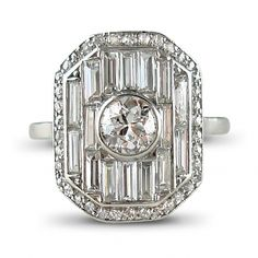 Art Deco diamond panel ring by Lacloche Freres