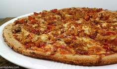 Emily Bites - Weight Watchers Friendly Recipes: Meat Lovers Pizza  -- 1 slice 5pts