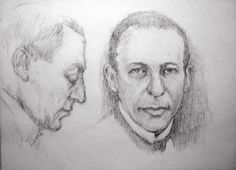 Pencil drawings of Sergei Rachmaninov - Drawings by Jean Vincent