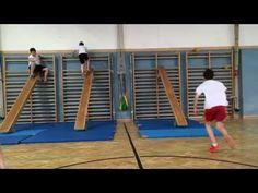 Langbank und Sprossenwand- Sportunterricht - YouTube