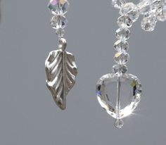 Glass Crystals, including Swarovski and Silver Plated Leaves