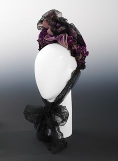 Bonnet Date: 1873 Culture: Austrian Medium: silk, linen Accession Number: 2009.300.1755