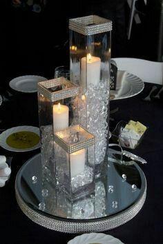 Bodas de prata Centerpiece Rentals, Centerpiece Decorations, Table Centerpieces, Decoration Table, Wedding Centerpieces, Wedding Table, Decoration Noel, Wedding Decorations, Crystal Centerpieces