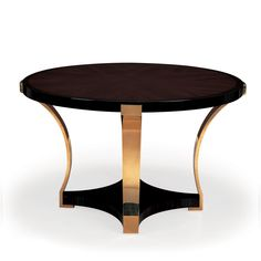 45005 // Bolier // Occasional Collection // Center Table // Starburst Santos Rosewood with Macassar Ebony Border and Burnished Brass Base