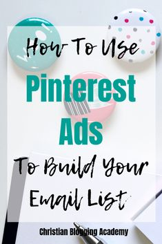 Are You Making These 3 Mistakes With Pinterest's Promoted Pins? Click To Find Out & What To Do Instead! | Christian Blogging Academy Email Marketing Campaign, Email Marketing Strategy, Media Marketing, Marketing Logo, Affiliate Marketing, Pinterest Advertising, Pinterest Marketing, Advertising Ideas, Advertising Campaign