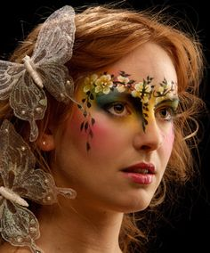 Floral face / crown: Eye Dare You - Adult Facepainting - Gallery 1