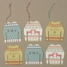 Knit Sweater Gift Tags - Free download