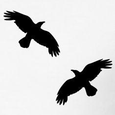 raben krähen mystisch vogel fliegen raven mystical crows flying bird T-Shirts