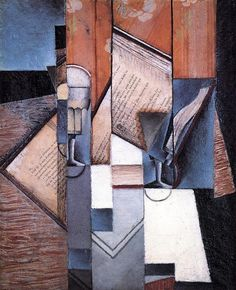 """Trademark Art """"The Book"""" by Juan Gris Painting Print on Wrapped Canvas Size: Canvas Art Prints, Painting Prints, Canvas Wall Art, Fine Art Prints, Oil Paintings, Henri Matisse, Synthetic Cubism, Georges Braque, Paris Ville"""
