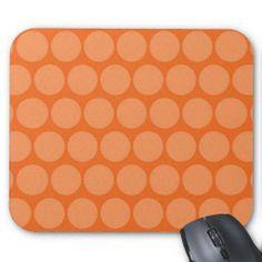 Girly Giant Big Orange Peach Polka Dots Pattern Mousepad SOLD on Zazzle