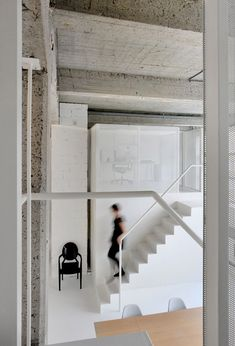 Loft FOR renovated apartment in Brussels by adn Architectures stair