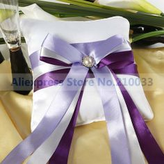 Free Shipping Wholesales Retail lavender Pearl Satin Double Ribbon ...