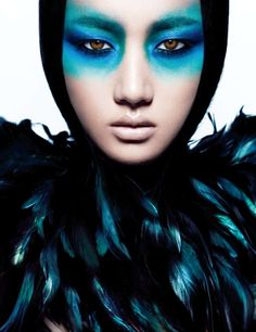 Liu Lijie by Charles Guo for Numero China September 2012 1 – Beauty and Make Up Pictures Make Up Looks, Look At You, Foto Fashion, Fashion Shoot, Style Fashion, Fashion Design, Eye Makeup, Beauty Makeup, Bird Makeup