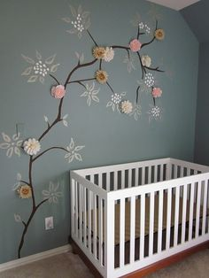 You could easily do this the Silhouette...a few colors of vinyl and some fabric flowers.  Sooo cute!