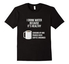 Healthy Water over Coffee Grounds