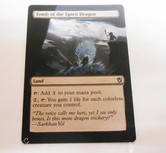 MTG Altered Painted Tomb of the Spirit Dragon Khans of Trokir  #WizardsoftheCoast