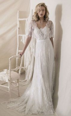 Featured Lace Wedding Dress: Lihi Hod; www.lihihod.com