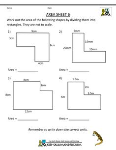area of a triangle worksheets 7th grade | Click on the sample ...