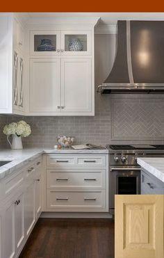 Kitchen Cabinets Costco Canada Backsplash White Gray Subway Tile Kitchens With