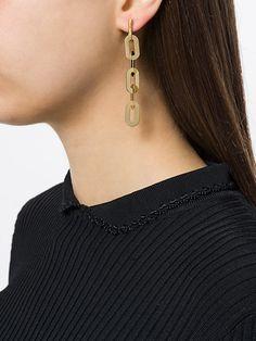 Wouters & Hendrix Technofossils chain earrings