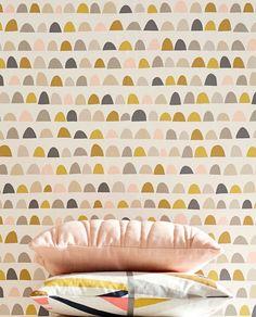 58,90 € Prix par rouleau (par m2 11,26 €), Papier peint nouveauté, Matériel de base: Papier peint intissé, Surface: Lisse, Aspect: Mat, Design: Éléments graphiques, Couleur de base: Blanc crème, Couleur du motif: Gris beige, Gris, Vert marron, Rosé clair, Jaune miel, Caractéristiques: Bonne résistance à la lumière, Difficilement inflammable, Arrachable à sec, Encollage du mur, Lessivable