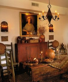 A cozy setting---The chandelier can be purchased as a reproduction from The Old Mercantile in Clarksville Tn ---theoldmercantile.com---Facebook---931-552-0910