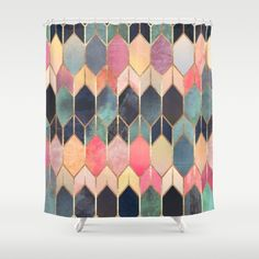 $68 In LOVE <3 with thie shower curtain   graphic, abstract, pattern, lines, gold lines, geometry, geometric, fancy