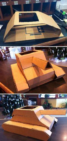 Cardboard Box Tank