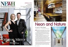 Check out the latest NEWH, Inc. magazine featuring our Austin faux leather in Chocolate on the upholstery in the Hyatt Times Square New York. Kudos to our friends at SPAN Architecture for the stunning design of this space.