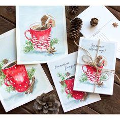 Фото о том как иллюстрации превратились в открытки ✨ Несу новогоднее настроение в массы вместе с @doodle_and_sketch #doodleandsketch_новогоднее_настроение  Напоминаю, что открытки можно купить, за подробностями в direct или на почту