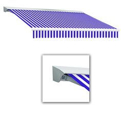 AWNTECH 20 ft. LX-Destin with Hood Manual Retractable Acrylic Awning (120 in. Projection) in