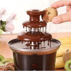 Get 40% OFF ON 3-tier Electric Chocolate Fountain. Serve your guests warm-flowing chocolate to enjoy as a dip for marshmallows, churros and fruits with this Mini Chocolate Fountain.
