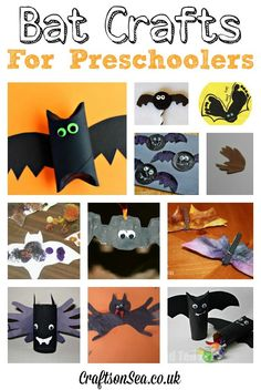 Check out these great bat crafts for preschoolers! Fun and easy ideas for Halloween!
