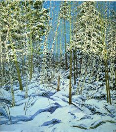 Shadow - Neil Welliver painting