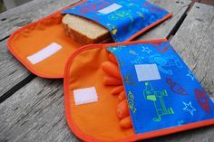 Free sandwich bag and snack bag sewing pattern and tutorial