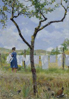 """Drying Laundry"" by Raffaello Sorbi"