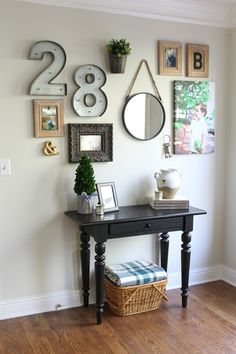 Love the numbers in this fun gallery wall!