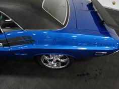 For sale in our Ft. Lauderdale, Florida showroom is a Blue Hardtop 1971 Dodge Challenger 440 CID V8 4-Spd Manual. Click for more details.