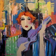 Attic gallery began in Diana Faville's attic in and is now located in downtown Camas, Washington. George Hamilton, Violin Art, Blues Music, Portrait Illustration, Fine Art Gallery, Figurative, Redheads, Photo Art, Singers