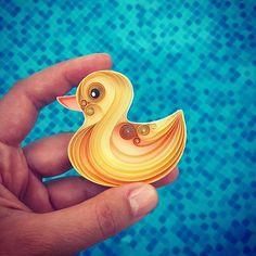quack quack  www.amazon.com/handmade/senaruna #miniquilledpaperart #senaruna #quack
