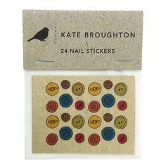 button nail transfers por katebroughton en Etsy